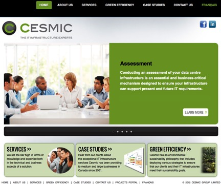 website after